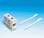 Общие маркировочные и крепежные принадлежности для клемм серии  «Pro». Каждая полоса содержит 10 маркеров.    Клеммы легко марки